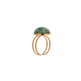 Gouden Ring Groene Steen