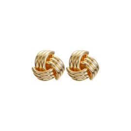 Gouden Clip oorbellen Knot