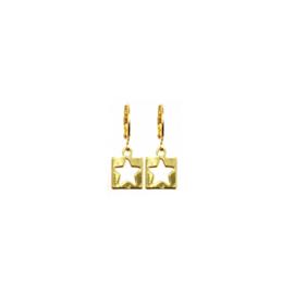 Earrings Open Star Goud