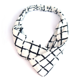 Headband White Crossed