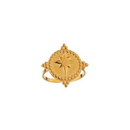 Gouden Ring Big Star