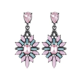 Statement Oorbellen Crystal Roze
