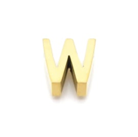 Gouden Ketting Letter W