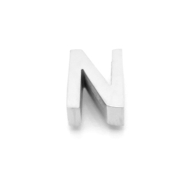 Zilveren Ketting Letter N