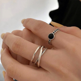 Ring Geometrisch Zilver 925