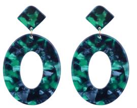 Clip oorbellen Rounds Groen
