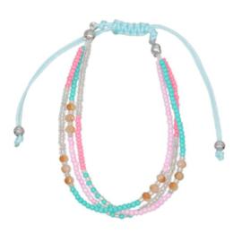 Bohemian Armband Blauw / Roze