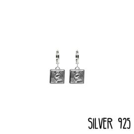 Earrings Roosjes op Plaat Gold/Silver
