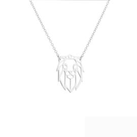 Zilveren Ketting Leeuw