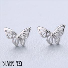 Oorknopjes Zilver Vlinder