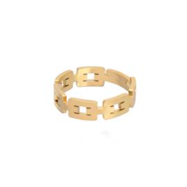 Gouden Ring Schakels Simpel