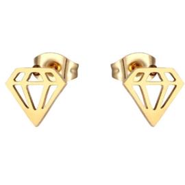 Oorknopjes Diamant Goud