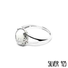 Ring Gemstone Marble Wit