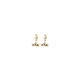 Earrings Love Goud