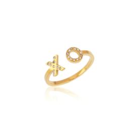 Gouden Ring XO