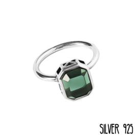 Ring Groene Steen Zilver 925