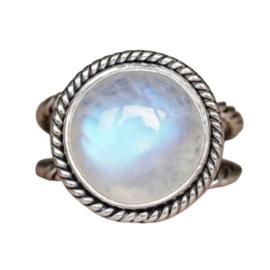 Ring Gemstone Wit XL Zilver 925