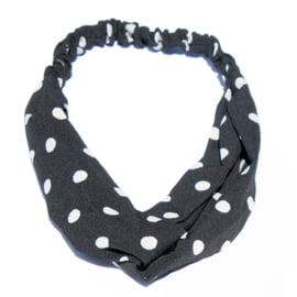 Headband Dots Black-White