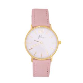 Roze Horloge Rond
