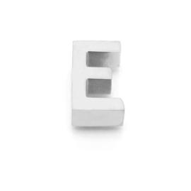 Zilveren Ketting  Letter E