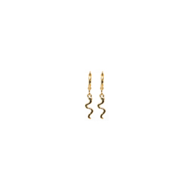 Earrings Snake Goud