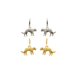 Earrings Leopard Charm Zilver