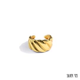 Gouden Ring Gedraaid Groot