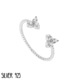 Zilveren Ring Subtile Stones