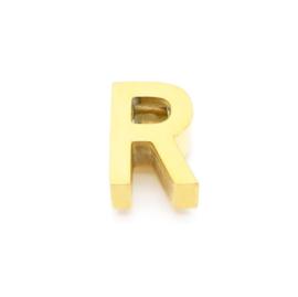 Gouden Ketting Letter R