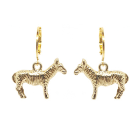 Earrings Zebra Goud