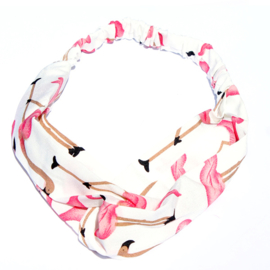 Headband Flamingo White