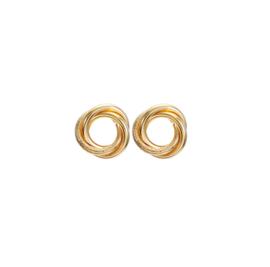 Gouden Clip oorbellen Circle