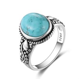 Ring Gemstone Turquoise Zilver 925
