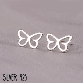 Oorknopjes Zilver Vlindertje