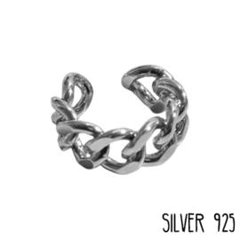 Ring Schakels Zilver