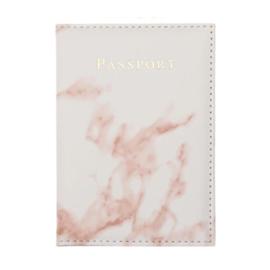 Paspoort Hoes Marmer Wit -Roze