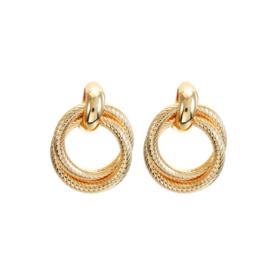 Gouden Clip oorbellen Rounds