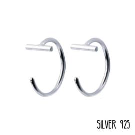 Hugging Bar 10mm Zilver
