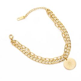 Gouden SchakelArmband Spark