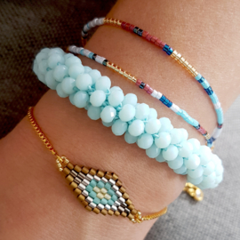 Bracelet Baroc Beads Light Blue