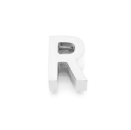 Zilveren Ketting Letter R