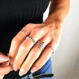 Zilveren Ring Double