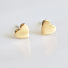 Oorknopjes Mini Hart Goud