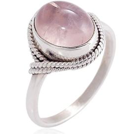 Ring Gemstone Lichtroze Zilver 925