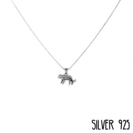 Zilveren Ketting Luipaard