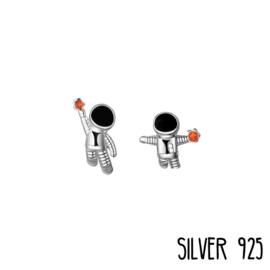 Zilveren Oorknopjes Space