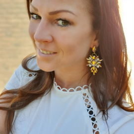 Statement Earrings Strass Glam