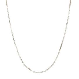 Korte ketting basic bar zilver