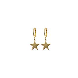 Earrings Glitter Star Goud