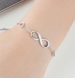 Armband Infinity Zilver